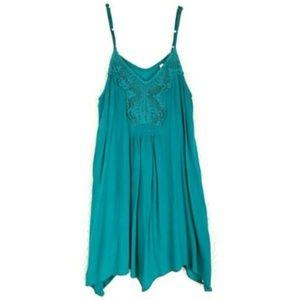 Xhilaration Women's Dress Size Medium Teal Layered